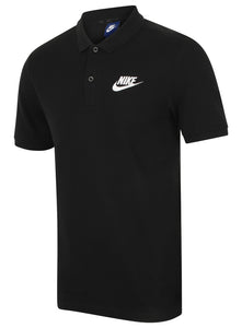 Nike Mens Sportswear Pique Cotton Polo Shirt - 909746-010 - Black - Front