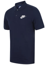 Nike Mens Sportswear Pique Cotton Polo Shirt - 909746-429 - Navy - Front