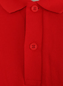 Nike Mens Sportswear Pique Cotton Polo Shirt - 909746-657 - Red - Collar
