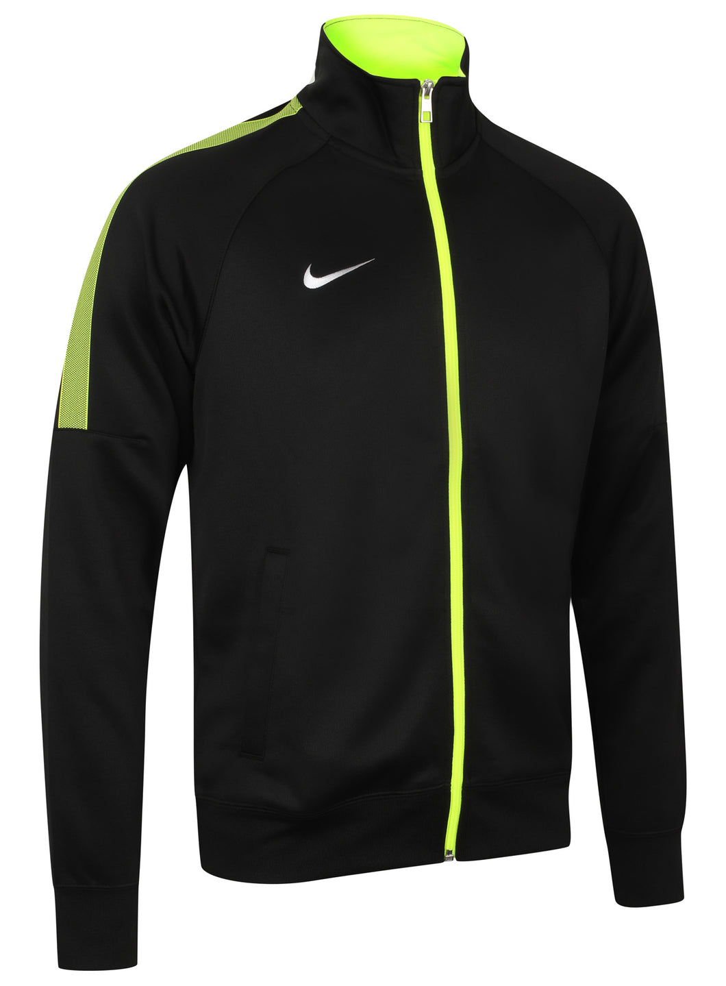 Nike Mens Team Club Full Zip Football Tracksuit Training Track Top - 658683-011 - Black - Front