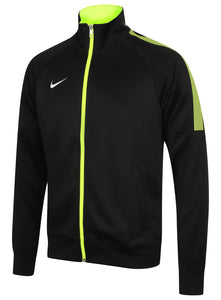 Nike Mens Team Club Full Zip Football Tracksuit Training Track Top - 658683-011 - Black - Front Left