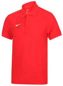 Nike Mens Team Core Pique Cotton Polo Shirt - 454800-657 - Red Front Left