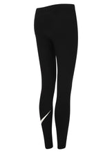 Nike Women's Sportswear Black Swoosh Cotton Gym Leggings
