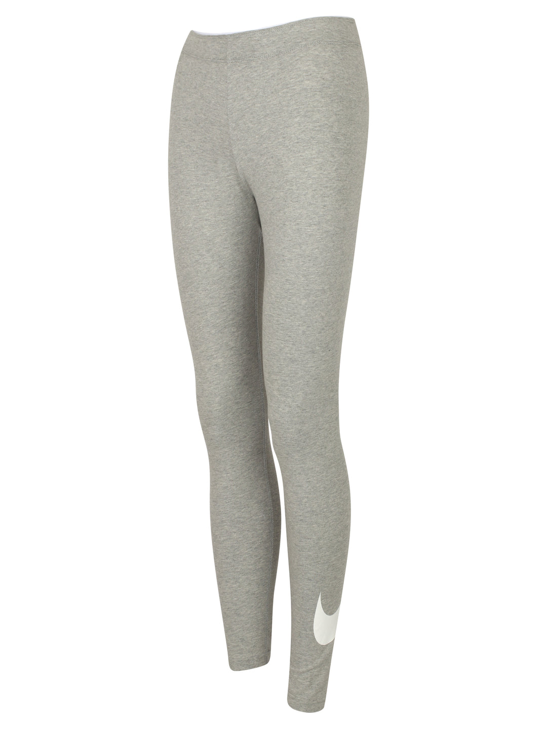 Nike Women's Sportswear Grey Swoosh Cotton Gym Leggings