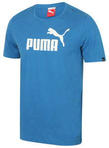 Puma Mens Style Essentials No1 Cotton dryCELL Crew T-Shirt - 831854-08 - Blue - Front