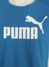 Puma Mens Style Essentials No1 Cotton dryCELL Crew T-Shirt - 831854-08 - Blue - Logo