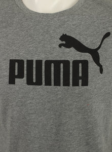 Puma Mens Style Essentials No1 Cotton dryCELL Crew T-Shirt - 831854-03 - Grey - Logo