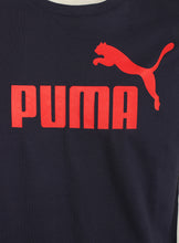 Puma Mens Style Essentials No1 Cotton dryCELL Crew T-Shirt - 831854-06 - Navy - Logo