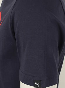 Puma Mens Style Essentials No1 Cotton dryCELL Crew T-Shirt - 831854-06 - Navy - Tag