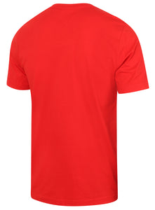 Puma Mens Style Essentials No1 Cotton dryCELL Crew T-Shirt - 831854-05 - Red - Back