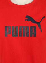 Puma Mens Style Essentials No1 Cotton dryCELL Crew T-Shirt - 831854-05 - Red - Logo