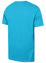 Puma Men's Style No1 Logo Bright Cotton dryCELL Crew T-Shirt Blue Back