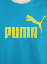 Puma Men's Style No1 Logo Bright Cotton dryCELL Crew T-Shirt Blue Logo