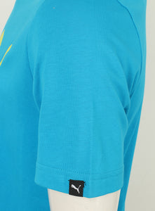 Puma Men's Style No1 Logo Bright Cotton dryCELL Crew T-Shirt Blue Tag