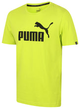 Puma Men's Style No1 Logo Bright Cotton dryCELL Crew T-Shirt Green Front