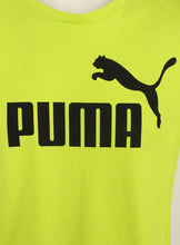 Puma Men's Style No1 Logo Bright Cotton dryCELL Crew T-Shirt Green Logo