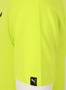 Puma Men's Style No1 Logo Bright Cotton dryCELL Crew T-Shirt Green Tag