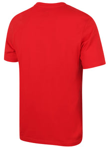 Puma Men's Style No1 Logo Bright Cotton dryCELL Crew T-Shirt Red Back