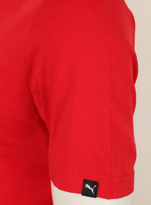 Puma Men's Style No1 Logo Bright Cotton dryCELL Crew T-Shirt Red Tag