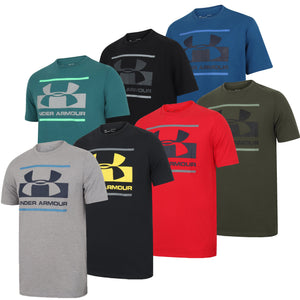 Under Armour Men's Blocked Sportstyle Logo Cotton Crew T-Shirt - 1305667