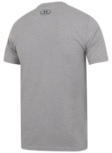 Under Armour Men's Blocked Sportstyle Logo Cotton Crew T-Shirt - 1305667-035 - Grey Back