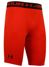 Under Armour Men's HeatGear Red Long Compression Shorts Short Tights Baselayer