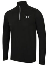 Under Armour Men's ColdGear Infrared Lightweight Black Long Sleeve 1/4 Zip Training Top