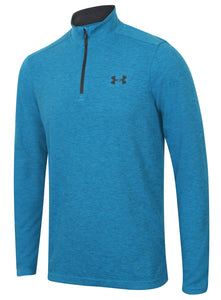 Under Armour Men's ColdGear Infrared Lightweight Blue Long Sleeve 1/4 Zip Training Top