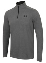 Under Armour Men's ColdGear Infrared Lightweight Grey Long Sleeve 1/4 Zip Training Top