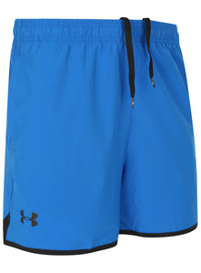 Under Armour Men's Qualifier HeatGear Blue 5 Inch Woven Training Shorts
