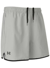 Under Armour Men's Qualifier HeatGear Grey 5 Inch Woven Training Shorts