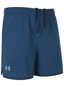 Under Armour Men's Qualifier HeatGear Petrol Blue 5 Inch Woven Training Shorts