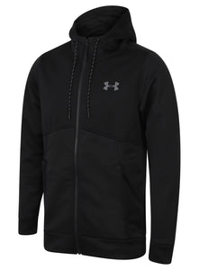192ba593c Under Armour Men's Storm Black Loose Fit Full Zip Water Repellent Fleece  Hoodie