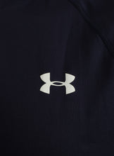 Under Armour Mens UA Tech HeatGear Loose Fit T-Shirt - 1228539-410 - Navy - Logo 1