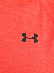 Under Armour Mens UA Tech HeatGear Loose Fit T-Shirt - 1228539-963 - Red - Logo 1