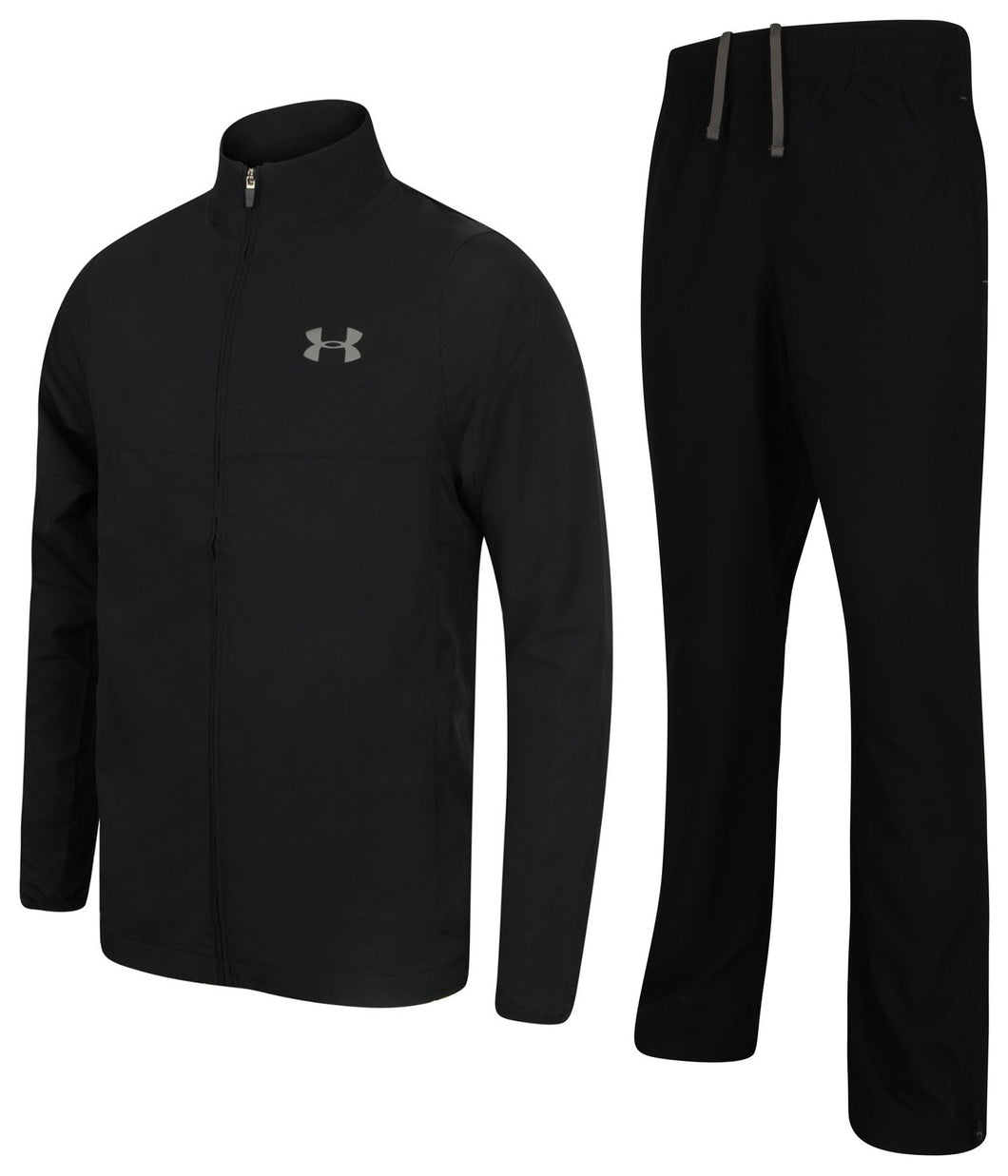 Under Armour Men's Vital Warm Up HeatGear Black Woven Open Hem Full Tracksuit