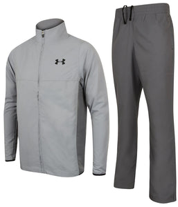 Under Armour Men's Vital Warm Up HeatGear Grey Woven Open Hem Full Tracksuit