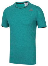 adidas Men's Adistar Primeknit Green Wool Blend Slim Fit Crew Running T-Shirt