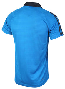 adidas Men's Clima Lightweight Blue climacool Tennis Polo Shirt