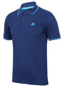 adidas Men's Essentials Clima365 Blue climalite Cotton Polo Shirt