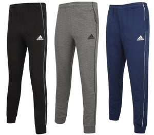 adidas Mens Core 18 Tapered Fleece Sweat Pants Tracksuit Jogging Bottoms