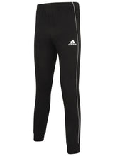 adidas Mens Core 18 Tapered Fleece Sweat Pants Tracksuit Jogging Bottoms - CE9074 - Black - Front
