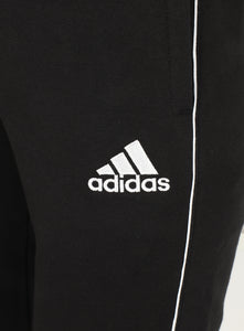 adidas Mens Core 18 Tapered Fleece Sweat Pants Tracksuit Jogging Bottoms - CE9074 - Black - Logo