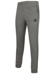 adidas Mens Core 18 Tapered Fleece Sweat Pants Tracksuit Jogging Bottoms - CV3752 - Dark Grey - Front