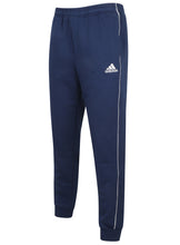 adidas Mens Core 18 Tapered Fleece Sweat Pants Tracksuit Jogging Bottoms - CV3753 - Dark Blue - Front