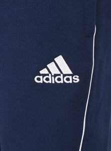 adidas Mens Core 18 Tapered Fleece Sweat Pants Tracksuit Jogging Bottoms - CV3753 - Dark Blue - Logo