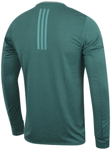 adidas Mens Supernova climalite Long Sleeve Running T-Shirt - AX8468 - Green Rear