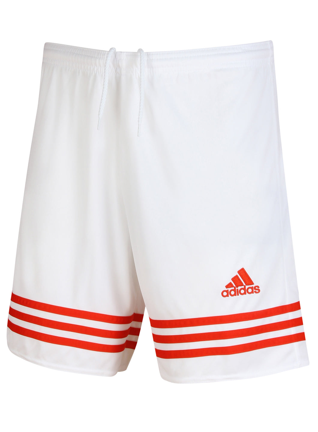 adidas Men's Entrada White 7 Inch climalite Polyester Training Shorts