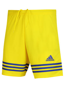 adidas Men's Entrada Yellow 7 Inch climalite Polyester Training Shorts