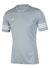 adidas Men's Entrada Grey climalite Crew Polyester Training T-shirt